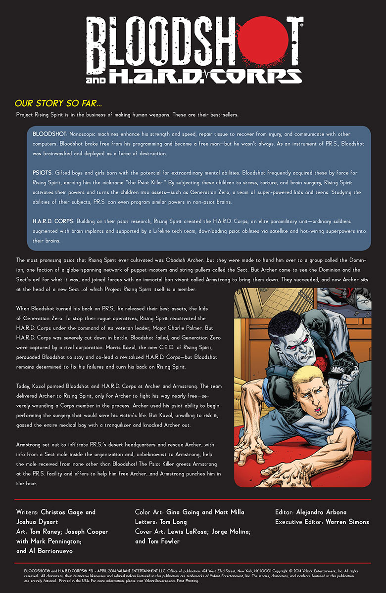 BLOODSHOT AND H.A.R.D. CORPS #21 | Valiant Entertainment