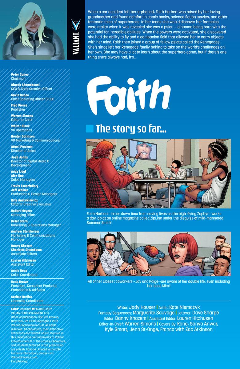 Valiant Previews: FAITH #9 – On Sale March 1st! | Valiant