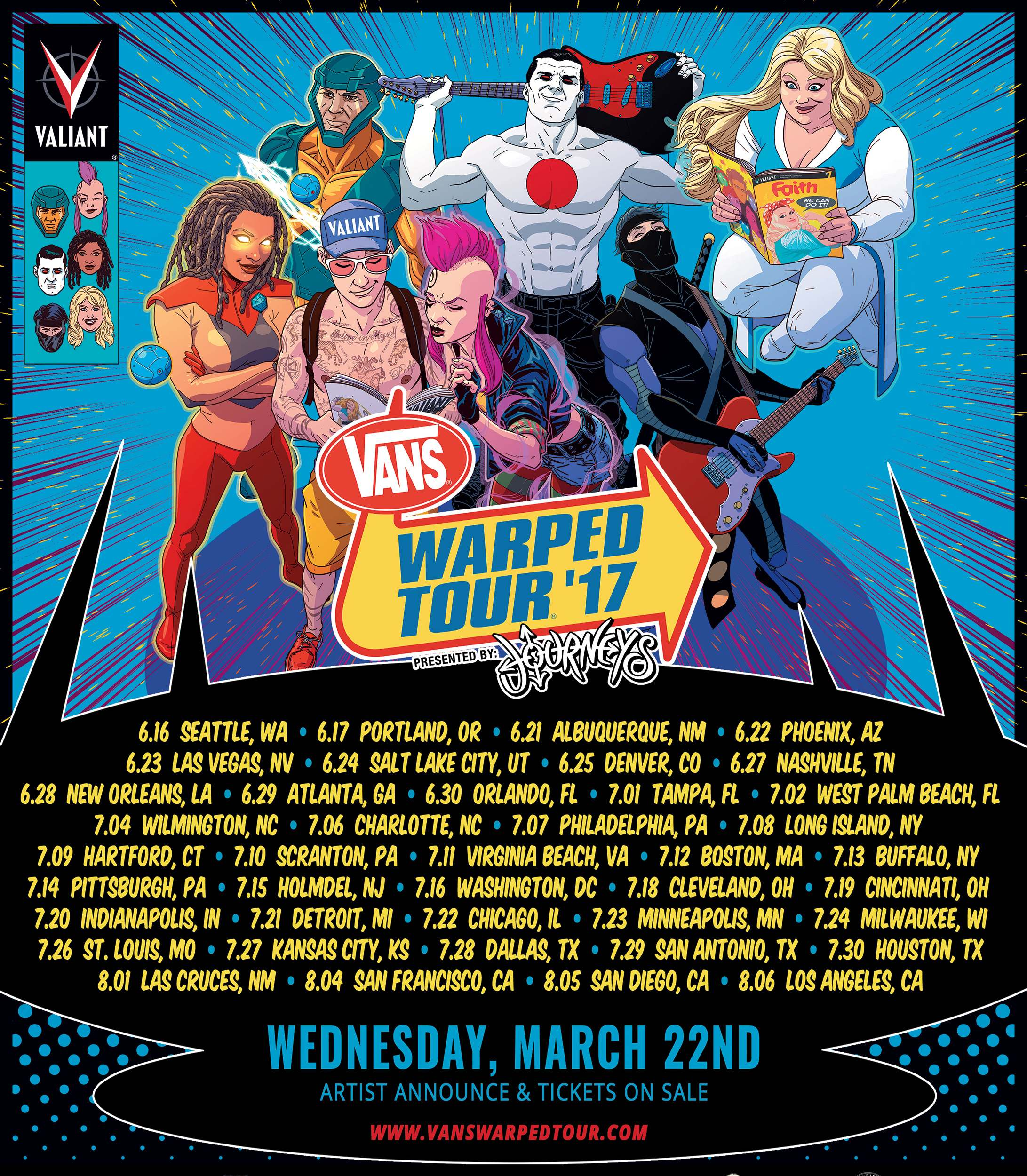 ef6f9f7605 Valiant to Appear at 2017 Vans Warped Tour® Dates in California